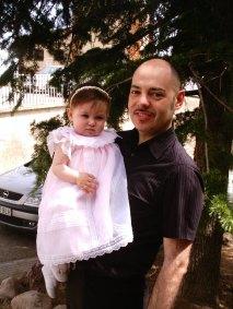 Sara y su padrino Dani...